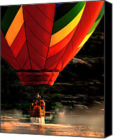 Balloon Festival Canvas Prints - Heading Back Up Canvas Print by Bob Orsillo
