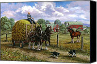 Family Farm Canvas Prints - Heading for the Loft Canvas Print by Richard De Wolfe