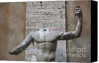 Torso Canvas Prints - Headless sculpture. Rome Canvas Print by Bernard Jaubert