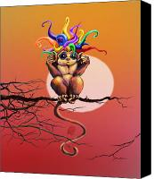 Kd Neeley Canvas Prints - Hear No Evil Canvas Print by Kd Neeley