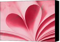 Love Canvas Prints - Heart A Flutter Canvas Print by Rebecca Cozart