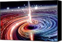 Black Hole Canvas Prints - Heart of the Quasar Canvas Print by Don Dixon
