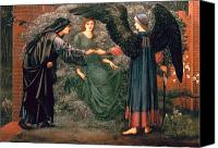 Burne-jones; Sir Edward (1833-98) Canvas Prints - Heart of the Rose Canvas Print by Sir Edward Burne-Jones