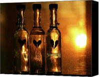 Heartache Canvas Prints - Heartache in a Bottle Canvas Print by Kerry Kralovic
