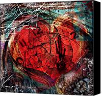 Artist Framed Prints Canvas Prints - Heartbreak Hotel Canvas Print by Jerry Cordeiro