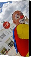 Clown Canvas Prints - Heartbreak on El Paso Street Canvas Print by Skip Hunt