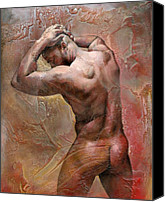 Erotic Painting Canvas Prints - Heat Canvas Print by Chris  Lopez
