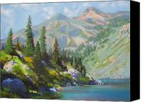 Markleeville Canvas Prints - Heather Lake Canvas Print by Bonita Paulis