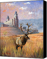 Elk Canvas Prints - Heaven and Earth Canvas Print by Jeff Brimley