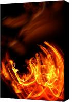On Fire Canvas Prints - Heavenly Flame Canvas Print by Donna Blackhall