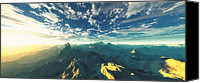 Panoramic Canvas Prints - Heavens Breath 16 Canvas Print by Marsha Charlebois