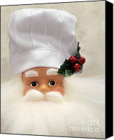 Santa Claus Canvas Prints - Heavens Chef Canvas Print by Christine Till