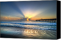 Florida Bridge Photo Canvas Prints - Heavens Door Canvas Print by Debra and Dave Vanderlaan