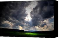 Farm Scenes Canvas Prints - Heavens Part Canvas Print by Emily Stauring