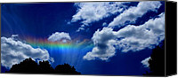 Linda Canvas Prints - Heavens rainbow Canvas Print by Linda Sannuti