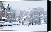 Snowed In Canvas Prints - Heavy Snowfall, Braemar, Scotland Canvas Print by Duncan Shaw