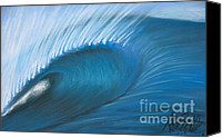 Wash Pastels Canvas Prints - Heavy Wave Canvas Print by Alec  Pydde