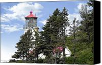 Old West Canvas Prints - Heceta Head Lighthouse - Oregons iconic Pacific Coast Light Canvas Print by Christine Till