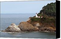 Coastal Canvas Prints - Heceta Head Lighthouse - Oregons Scenic Pacific Coast Viewpoint Canvas Print by Christine Till