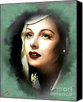 Silver Screen Actress Canvas Prints - Hedy Lamarr Canvas Print by Arne Hansen