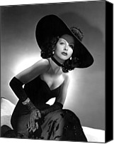 Opera Gloves Photo Canvas Prints - Hedy Lamarr Canvas Print by Everett