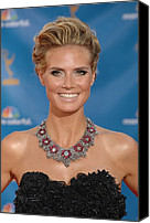 Updo Canvas Prints - Heidi Klum  Wearing A Lorraine Schwartz Canvas Print by Everett