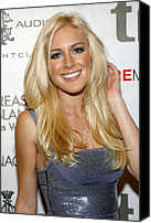 Lip Gloss Canvas Prints - Heidi Montag At Arrivals For Heidi Canvas Print by Everett