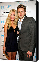 Gray Suit Canvas Prints - Heidi Montag, Spencer Pratt Canvas Print by Everett