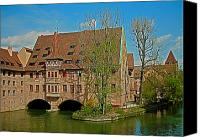 Bayern Canvas Prints - Heilig-Geist-Spital in Nuremberg Canvas Print by Juergen Weiss
