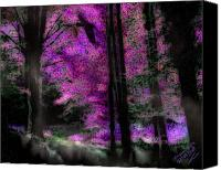 Magic Forest Canvas Prints - Heimkehr des Raben - Ravens Homecoming Canvas Print by Mimulux patricia no