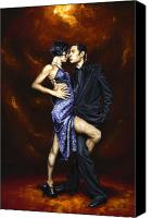 Tango Canvas Prints - Held in Tango Canvas Print by Richard Young