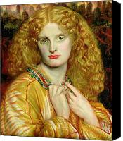 Mythological Canvas Prints - Helen of Troy Canvas Print by Dante Charles Gabriel Rossetti