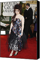 Tulle Canvas Prints - Helena Bonham Carter Wearing A Viviene Canvas Print by Everett