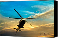 Orsillo Canvas Prints - Helicopter Canvas Print by Bob Orsillo