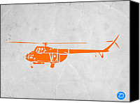 Airplane Painting Canvas Prints - Helicopter Canvas Print by Irina  March