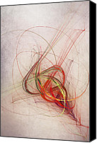 Swirl Digital Art Canvas Prints - Helix Canvas Print by Scott Norris