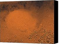 Canyon Craters Canvas Prints - Hellas Planitia Region Of Mars Canvas Print by Stocktrek Images