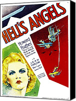 1930s Movies Canvas Prints - Hells Angels, Jean Harlow On Window Canvas Print by Everett
