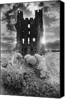 Helmsley Castle Canvas Prints - Helmsley Castle Canvas Print by Simon Marsden