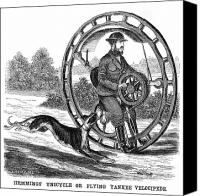 Whippet Canvas Prints - Hemmings Unicycle, 1869 Canvas Print by Granger