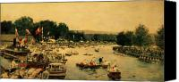Rowers Canvas Prints - Henley Regatta Canvas Print by James Jacques Joseph Tissot
