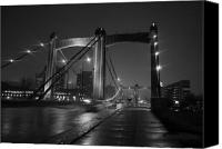 Mississippi River Canvas Prints - Hennepin Avenue Bridge Canvas Print by Heidi Hermes