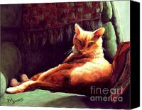 Tabby Painting Canvas Prints - Henry in Sunshine Canvas Print by Pat Burns