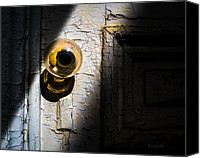 Door Canvas Prints - Her Glass Doorknob Canvas Print by Bob Orsillo