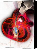 Fine Art Fractal Art Canvas Prints - Her Heart Is A Guitar Canvas Print by Andee Photography