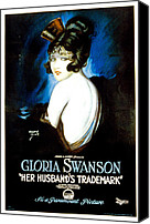 Postv Photo Canvas Prints - Her Husbands Trademark, Gloria Swanson Canvas Print by Everett