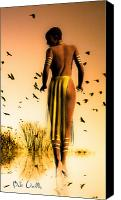 Black Woman Canvas Prints - Her Morning Walk Canvas Print by Bob Orsillo