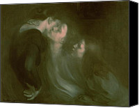 Ghostly Canvas Prints - Her Mothers Kiss Canvas Print by Eugene Carriere