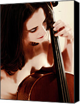 Gorgeous Women Canvas Prints - Her Private Recital  Canvas Print by Steven  Digman