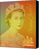Windsor Canvas Prints - Her Royal Highness Queen Elizabeth II Canvas Print by Heidi Hermes